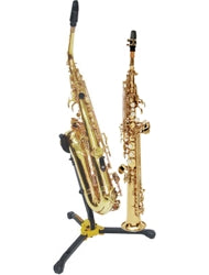 DS533BB - Hercules alto and tenor saxophone stand with soprano saxophone peg Default title