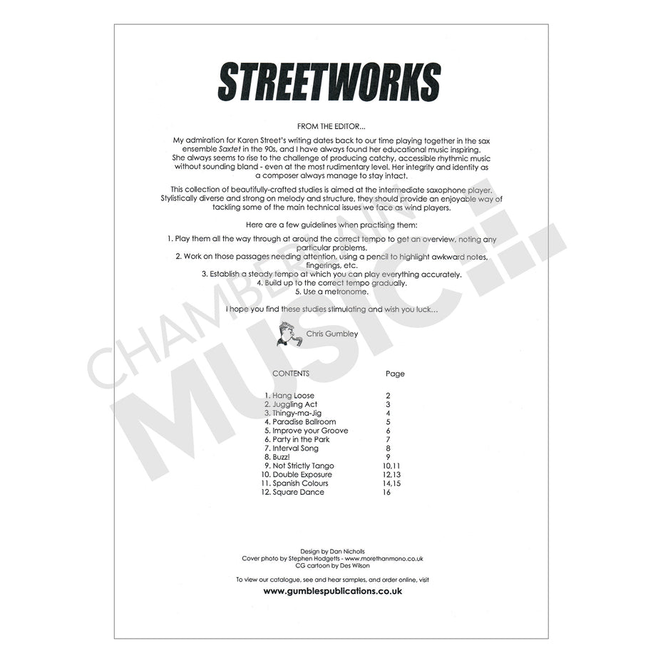 Streetworks for Saxophone