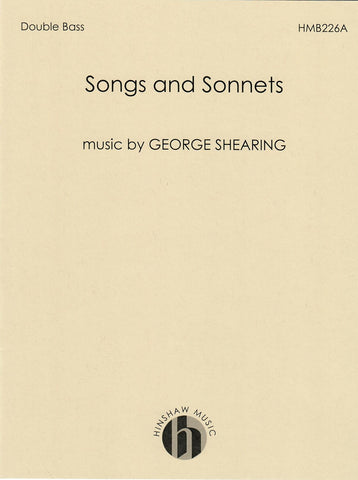 HMB226A - Shearing - Songs and Sonnets: Double Bass Part Only Default title