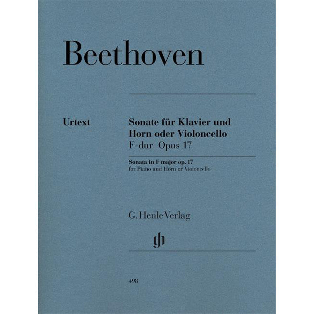 HN498 - Sonata F major for Piano and Horn (or Violoncello) op. 17. Default title