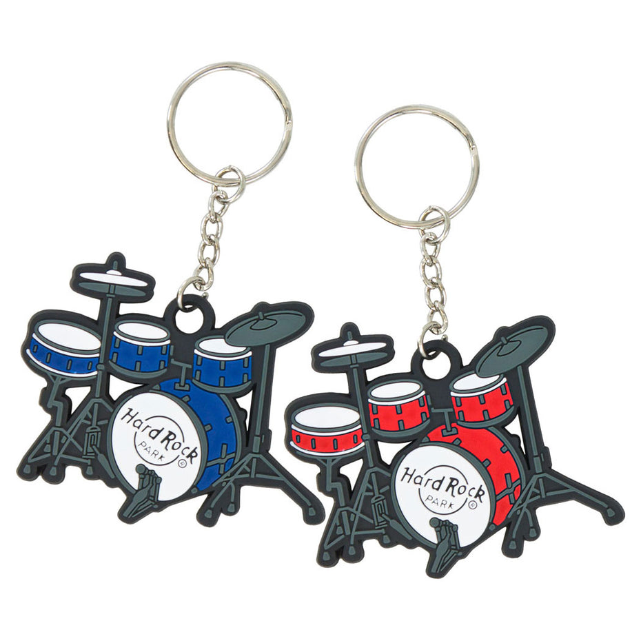 HY-B081 - Drum kit rubber keyring key chain Default title