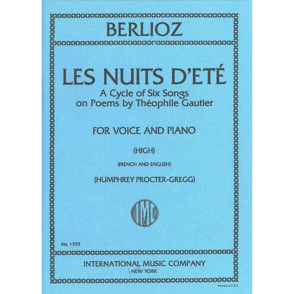 IMC1355 - Les Nuits d'ete (High) Op.7. A cycle of six songs Default title