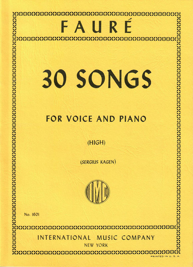 IMC1601 - Faure 30 songs for high voice Default title