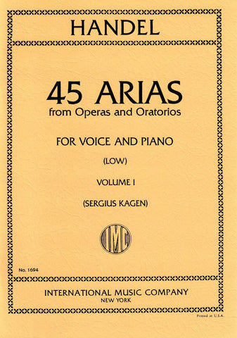 IMC1694 - 45 Arias from Operas and Oratorios volume 1 low voice Default title