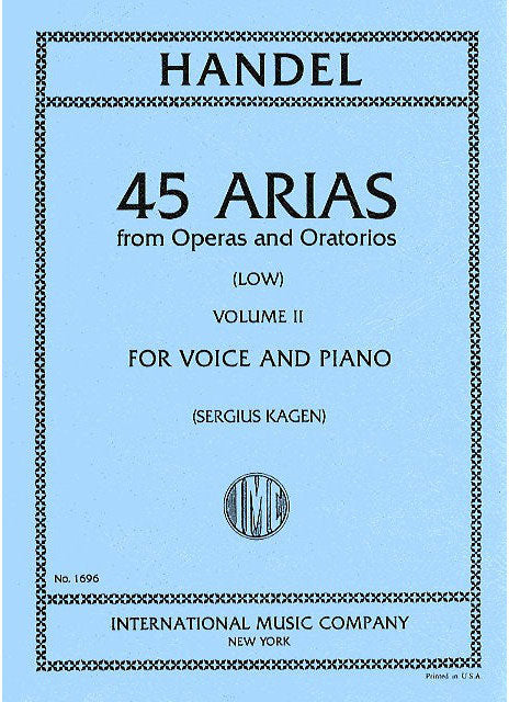 IMC1696 - 45 Arias from Operas & Oratorios volume 2 low voice Default title