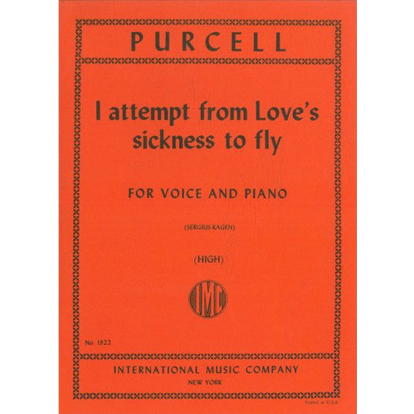 IMC1922 - I attempt from Love's sickness to fly (from The Indian Queen), Z.630). Default title