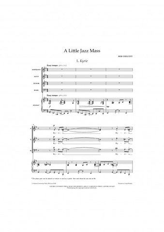 OUP-3356177 - A Little Jazz Mass: SATB vocal score Default title
