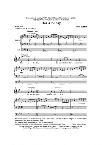 OUP-3382374 - This is the day: Vocal score Default title