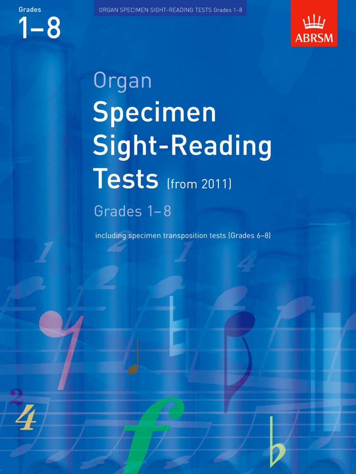 AB-48492448 - Organ Specimen Sight-Reading Tests, Grades 1–8 from 2011 Default title