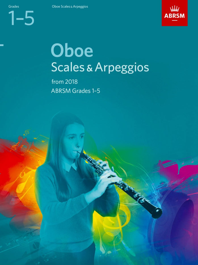 AB-48499096 - ABRSM: Oboe Scales & Arpeggios, Grades 1-5 from 2018 Default title
