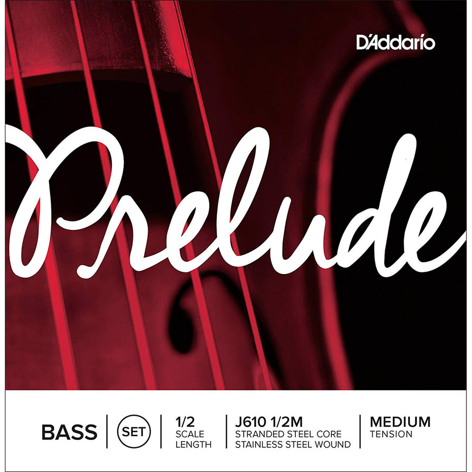 J610M-12 - Daddario Prelude double bass string set 1/2 size