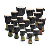 JBD-20PK - Percussion Workshop classroom djembe pack - 20 player African drum set Default title