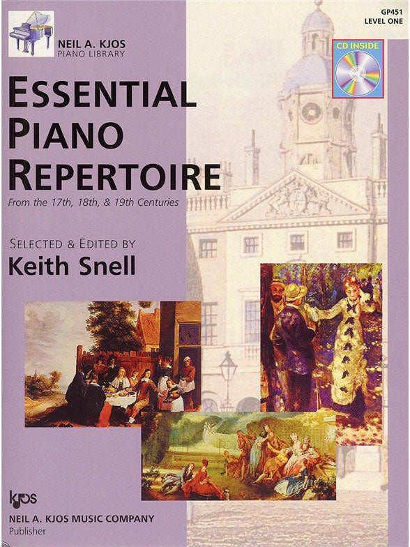 KJGP451 - Neil A. Kjos Piano Library: Essential Piano Repertoire - Level 1 Default title