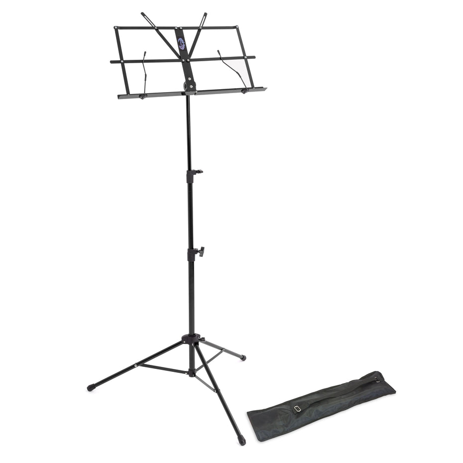 LMS02-BK - Lawrence lightweight folding music stand Black