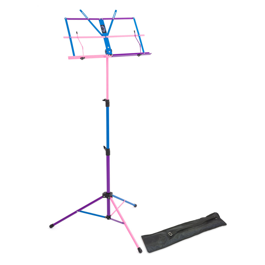 LMS02-MX - Lawrence lightweight folding music stand Mixed colours (random mixed colours)
