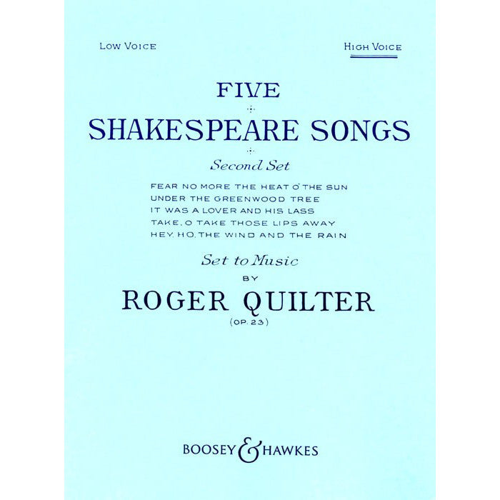 M060021671 - 5 Shakespeare Songs, op. 23 High Voice Default title