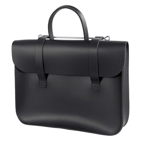 MC1-BK - Oxford Traditional leather music case Black