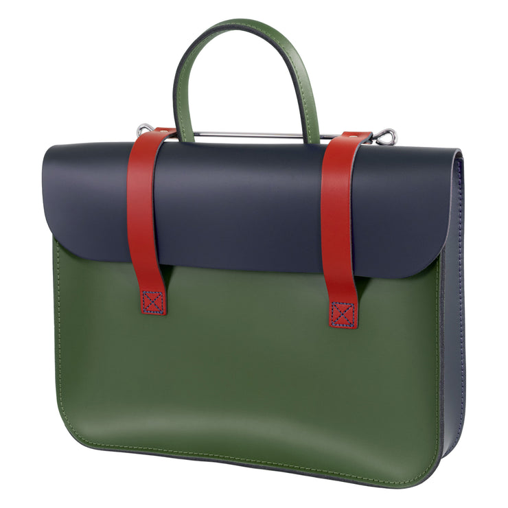 MC1-MC - Traditional Oxford leather music case Mixed colours