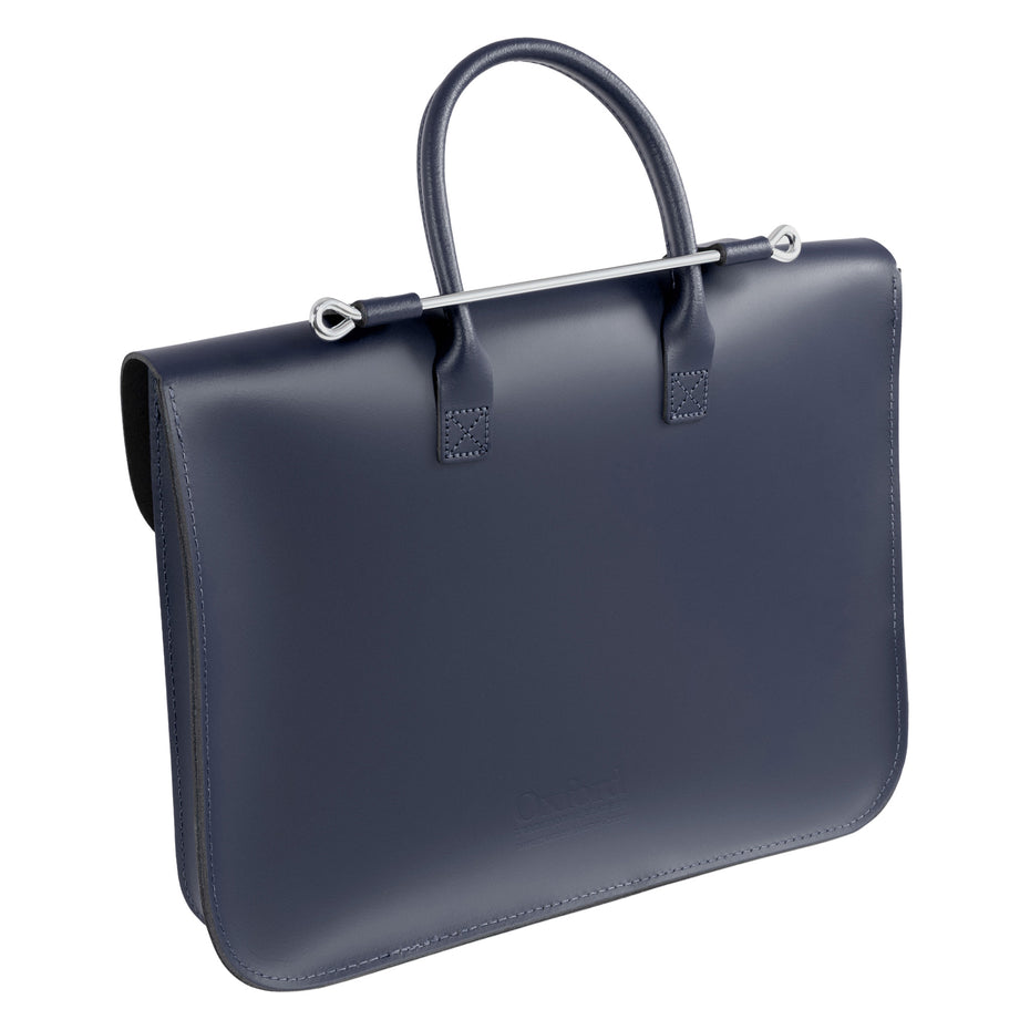 MC1-N - Oxford Traditional leather music case Navy blue