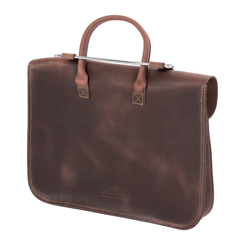 MC2-WAL - Oxford Traditional leather premium music case Antique walnut