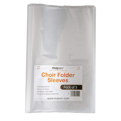 MP11630-SLEEVE - Pack of 5 x choir folder plastic sleeves Default title