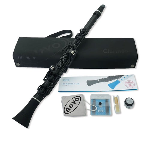 N120CLBK - Nuvo N120CL Clarineo clarinet outfit Black with silver trim