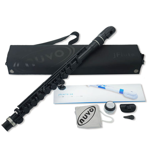 N220JFBK - Nuvo N220 jFlute outfit Black with steel trim