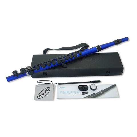 N235SFBB - Nuvo plastic student flute outfit Metallic blue