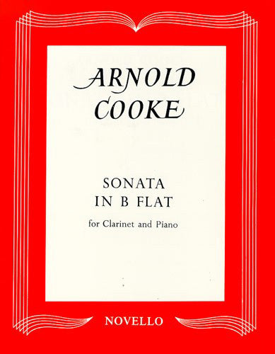 NOV120130 - Arnold Cooke: Sonata In B Flat For Clarinet And Piano Default title