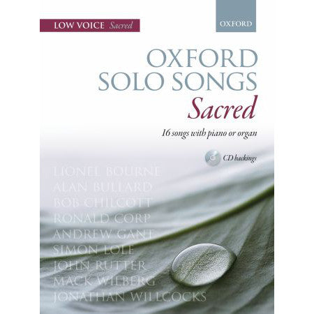 OUP-3365803 - Oxford Solo Songs: Sacred: Low voice book + CD Default title