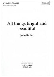 OUP-3420625 - All things bright and beautiful: Unison/upper voice vocal score Default title