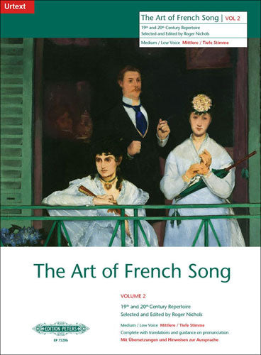 P7520B - Art of French Song volume 2 Medium Low Voice Default title
