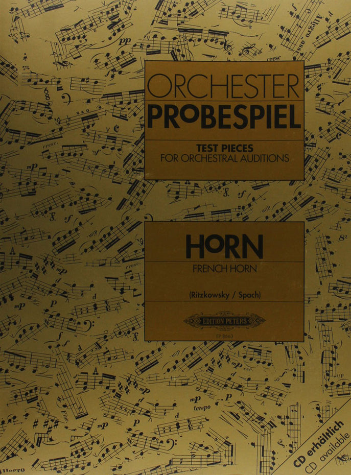 P8663 - Test Pieces for Orchestral Auditions - Horn Default title