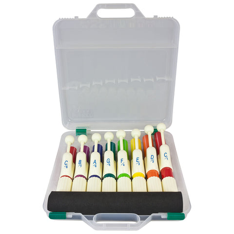 PP015 - Percussion Plus PP015 set of 8 coloured hand chimes with case Default title