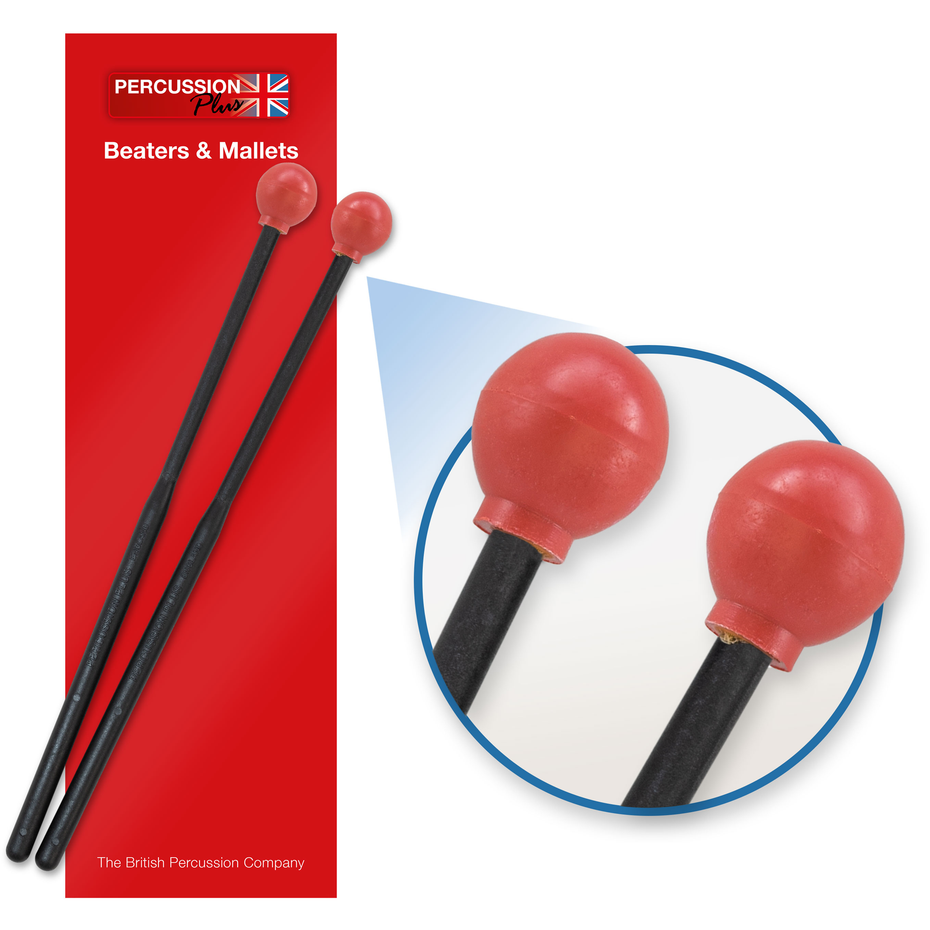 PP067 - Percussion Plus PP067 rubber head beaters - hard Default title