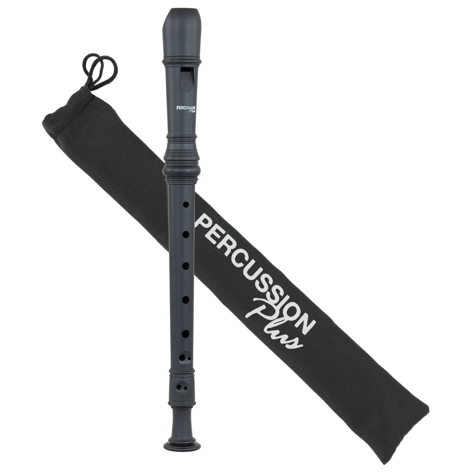 PP1618 - Percussion Plus descant recorder Matt black