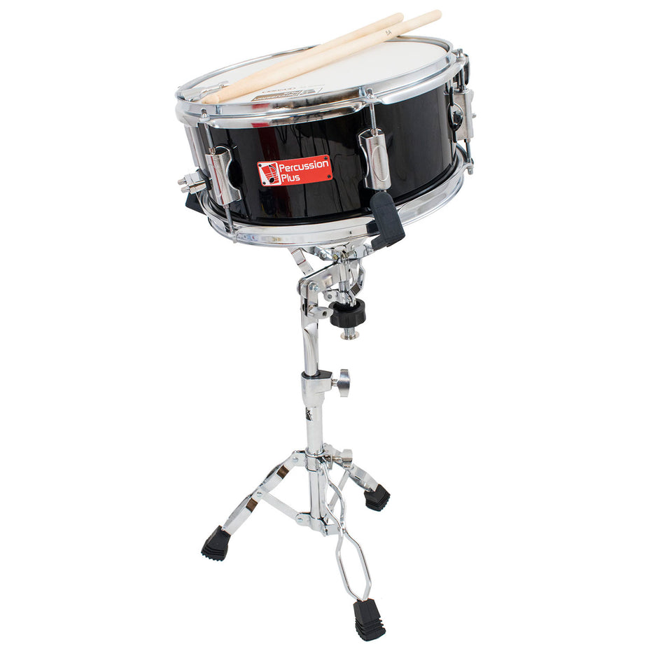 PP260-BK - Junior side drum with sticks and stand Black