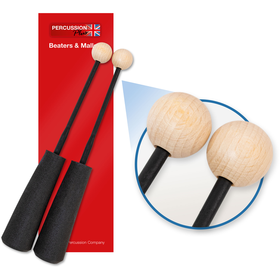 PP755 - Percussion Plus PP755 Easy Grip hard wooden beaters Default title