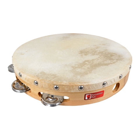 PP873 - Percussion Plus wood shell tambourine 10