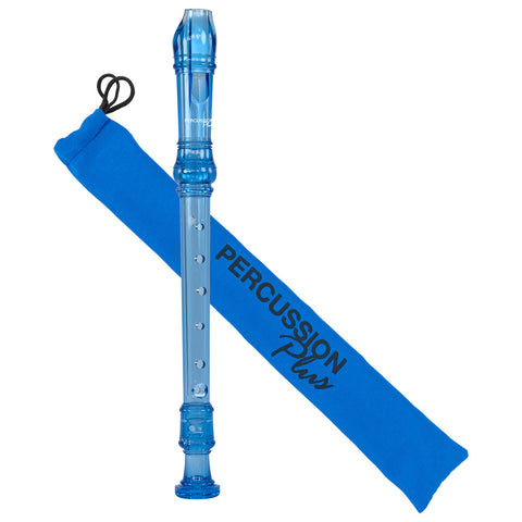 PP911 - Percussion Plus descant recorder Transparent blue