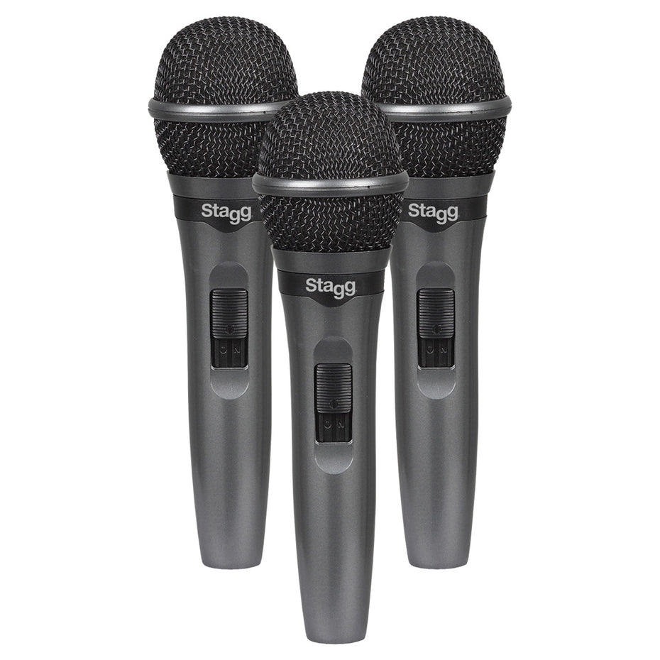 SDMP15-3 - Set of 3 Stagg dynamic vocal microphones Default title