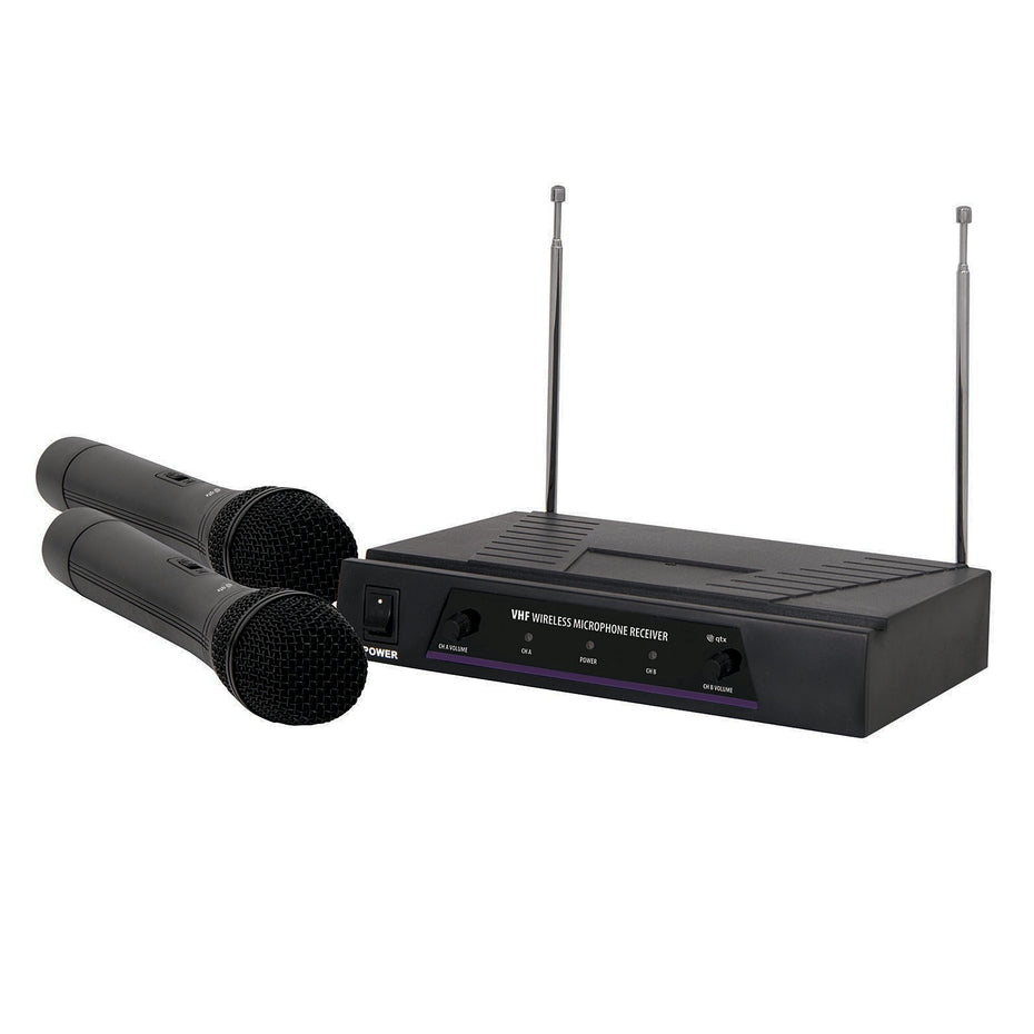 SK171817 - QTX dual wireless handheld radio microphone VHF 174.1MHz - 175.0MHz Default title