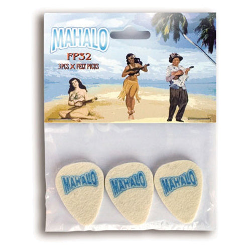 STN2052 - Mahalo felt ukulele plectrums - pack of 3 Default title