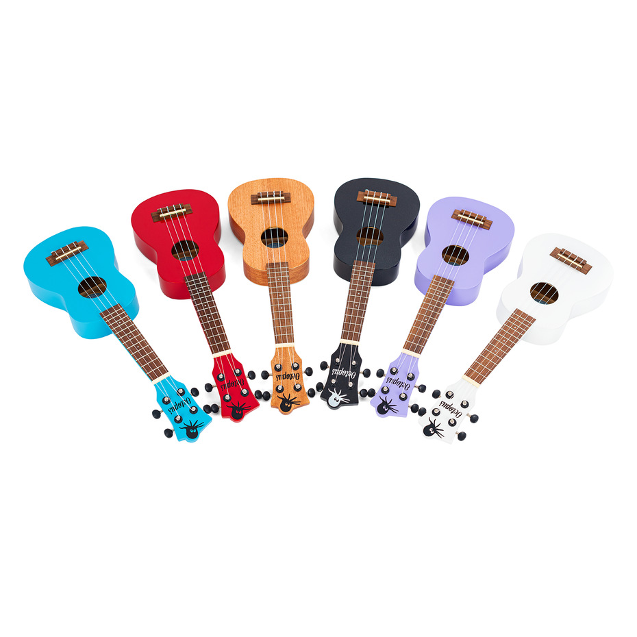 UK205-BK,UK205-CAR,UK205-PU,UK205-LBU,UK205-NAT,UK205-WH - Octopus UK205 New 2021 soprano ukulele Natural