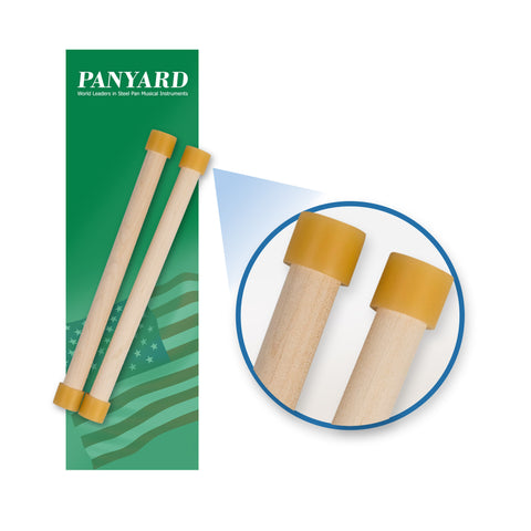 W4253 - Panyard wood series lead and junior steel pan mallets Default title