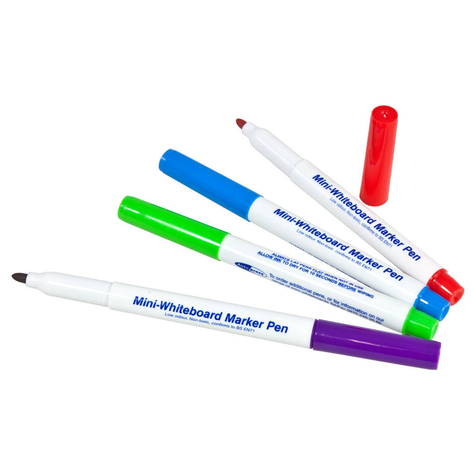 WB12 - Set of 4 dry wipe colour pens for white boards Default title