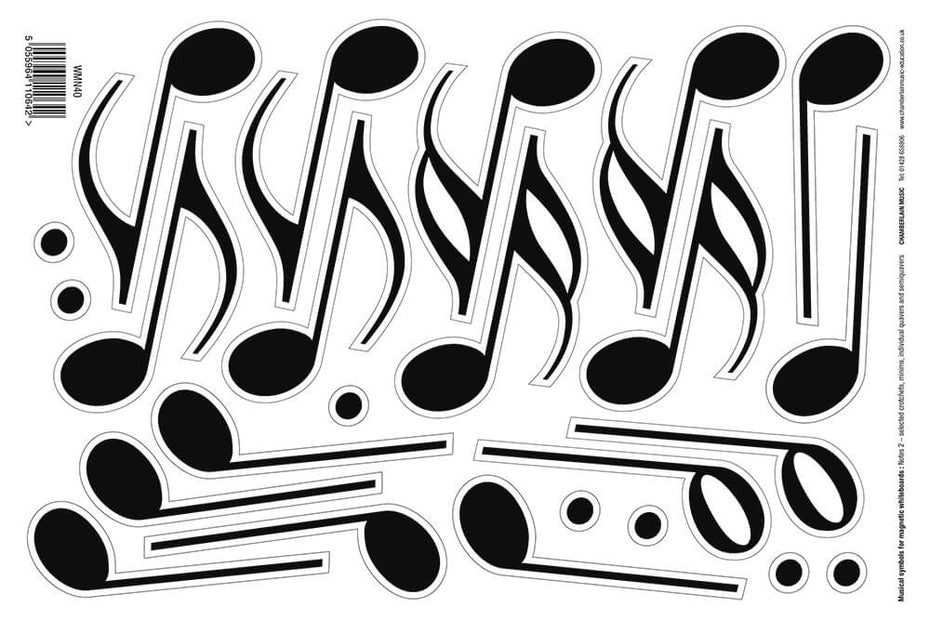 WMN40 - Magnetic music symbols 4 - notes and dots Default title