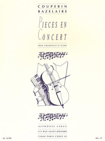 AL16920 - Francois Couperin: Pieces En Concert (Cello And Piano) Default title