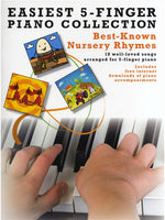 AM1001110 - Best-Known Nursery Rhymes: Easiest 5-Finger Piano Collection Default title