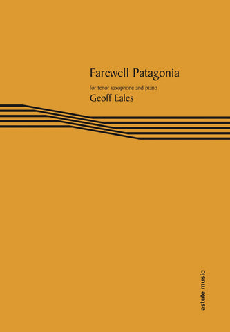 AM413-51 - Farewell Patagonia for tenor saxophone and piano Default title